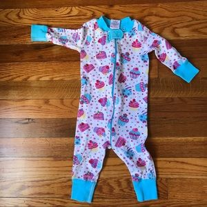 hanna andersson cupcake, zipper coverall